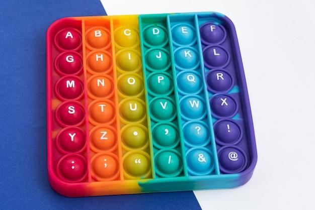 Fidget pop it toy 무지개 색상 - 스트레스 해소, 재미 및 교육