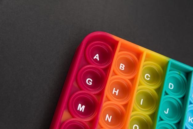 Игрушка fidget pop it цвета радуги - антистресс, веселье и познавательная способность