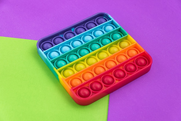 Fidget pop it toy rainbow color-アンチストレス、楽しくて教育的