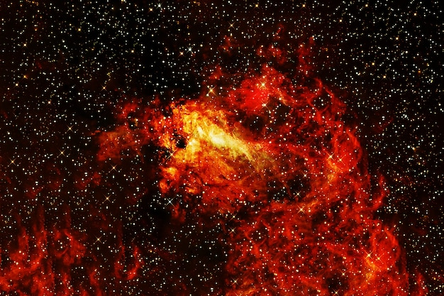 Fiery galaxy in dark space. elements of this image were furnished by nasa. high quality photo