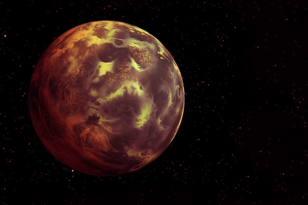 黒の背景に燃えるような惑星この画像の要素はnasaによって提供されました高品質の写真