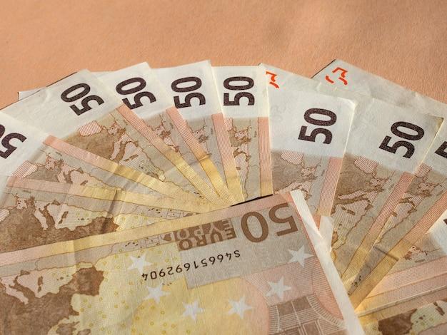 Пятьдесят евро банкноты валюта европейского союза