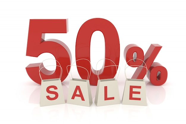 Fifty percent sale