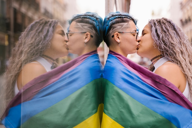 Fight for homosexual rights. freedom of choose same gender couple.