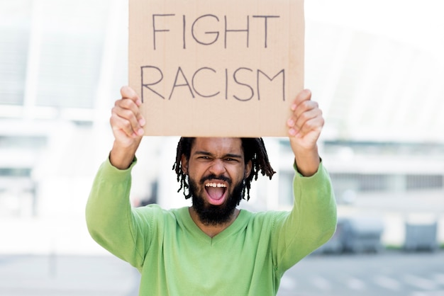 Fight racism quote black lives matter concept