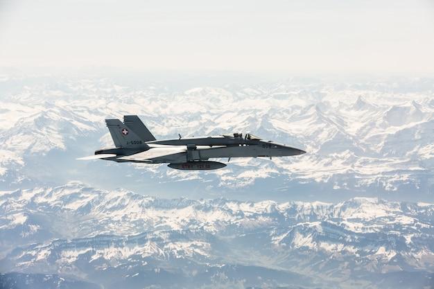 Fighter jet on combat duty