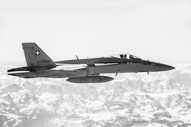 戦闘任務中の戦闘機