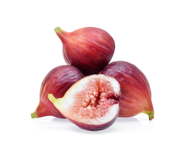 イチジクの果実は白い背景で隔離