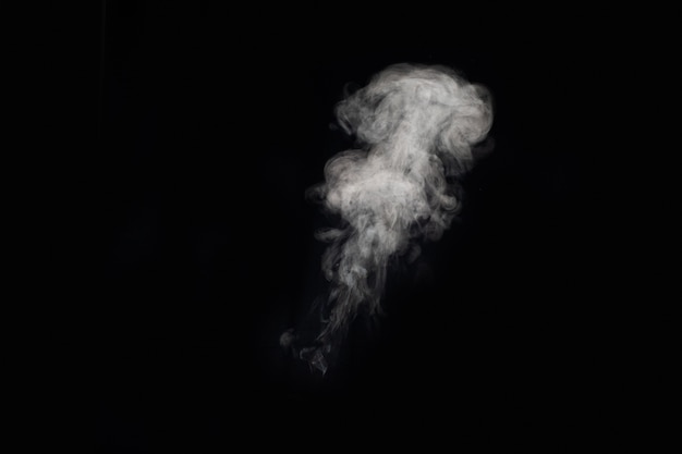 Figured smoke on a dark background