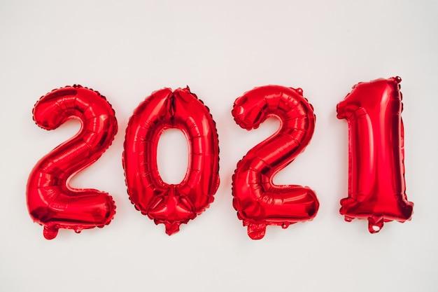 風船からの図2021、新年の概念