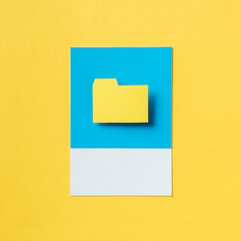 File document folder icon illustration