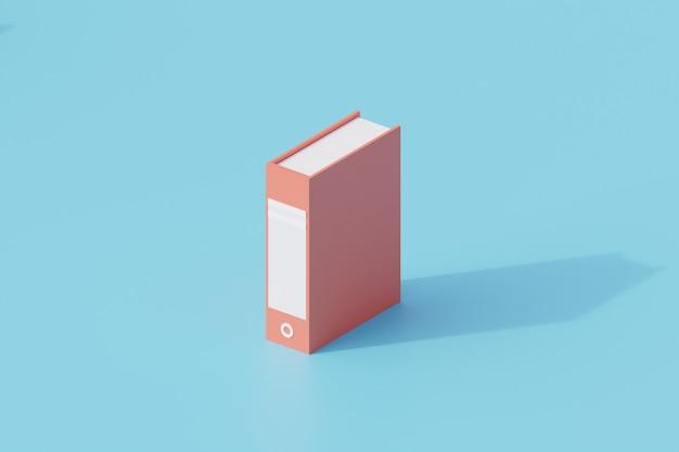 File folder or holder document single isolated object. 3d rendering