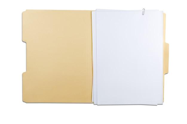 Папка с пустыми страницами
