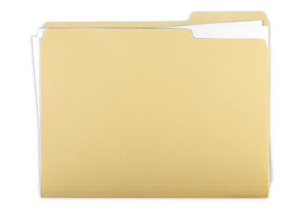 Файловая папка с документами, заметкой и бланком