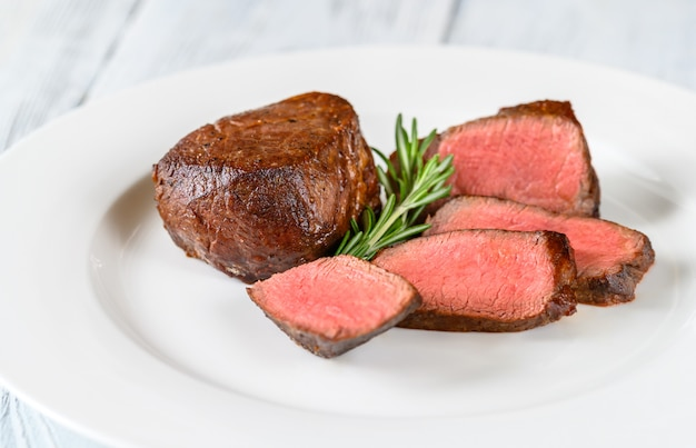 Filet mignon on the plate