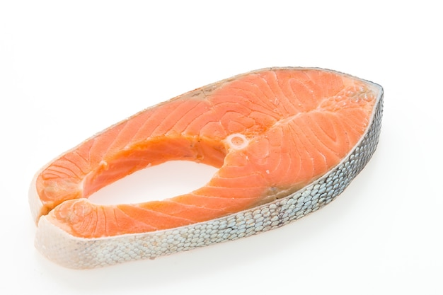 Fillet of tasty salmon close-up