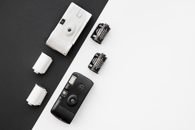 Film cartridges near cameras