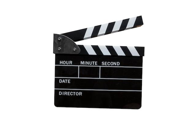 Film slate on isolated background