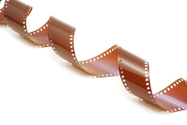 白のフィルムストリップ