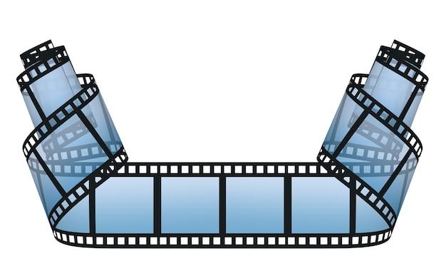 白い背景の上のフィルムストリップ