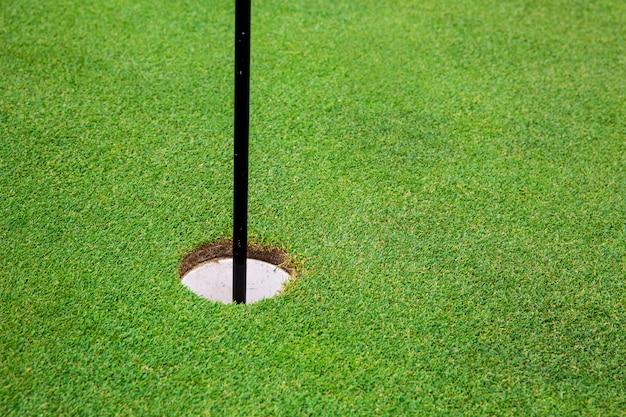 草でゴルフコース上のフラグの最後の穴