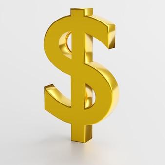 Финансы и деловой символ. золотой знак доллара
