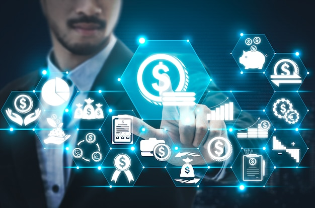 Фон технологии финансов и денежных транзакций