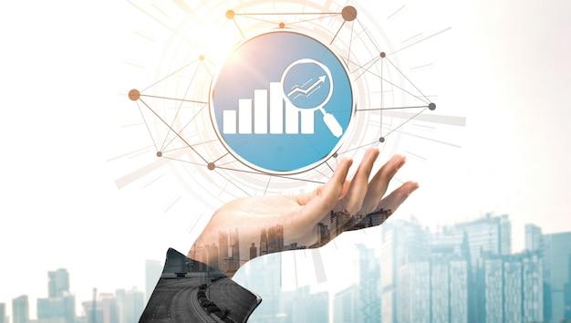 金融とお金の取引技術コンセプト