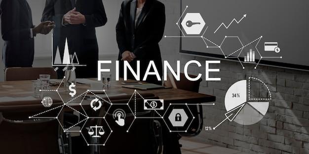 Finanza denaro debito credito equilibrio concept