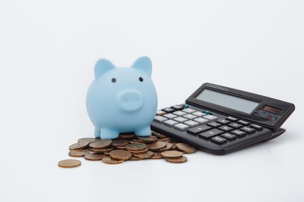 財政の節約、将来の投資と緊急使用の概念のためにお金を節約する
