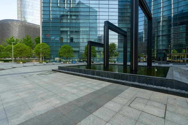 Financial center office building in ningbo east new town, china
