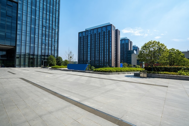 Financial center plaza and office building