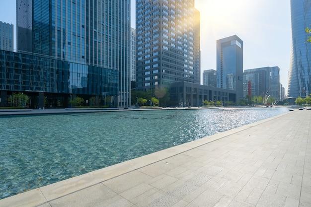 Площадь финансового центра и офисное здание в нинбо, китай