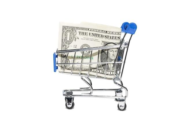 Финансовая концепция, банкноты в корзине