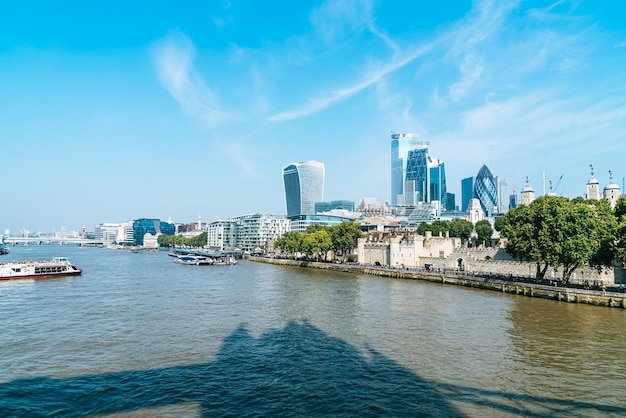 Financial district of london city in uk
