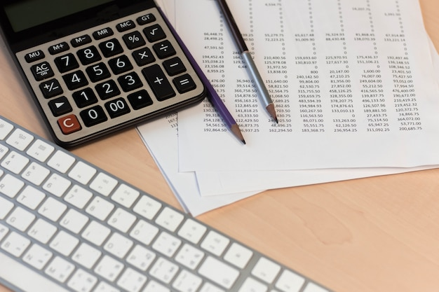 Financial statement accounting analysis concept