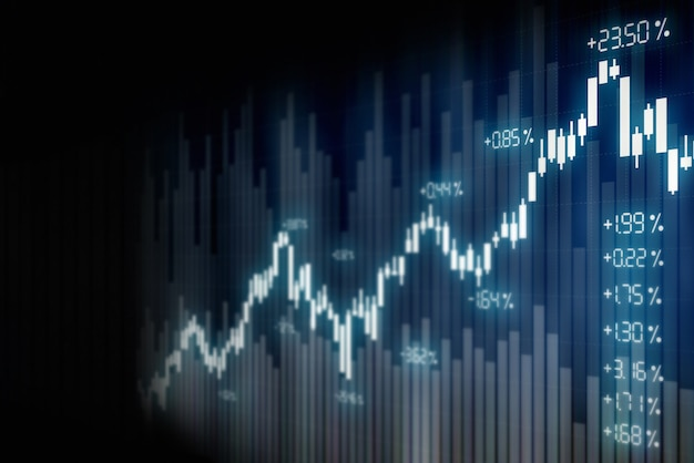 Financial stock market graph background , technology screen