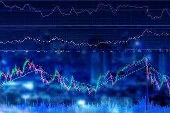 Financial stock market graph chart