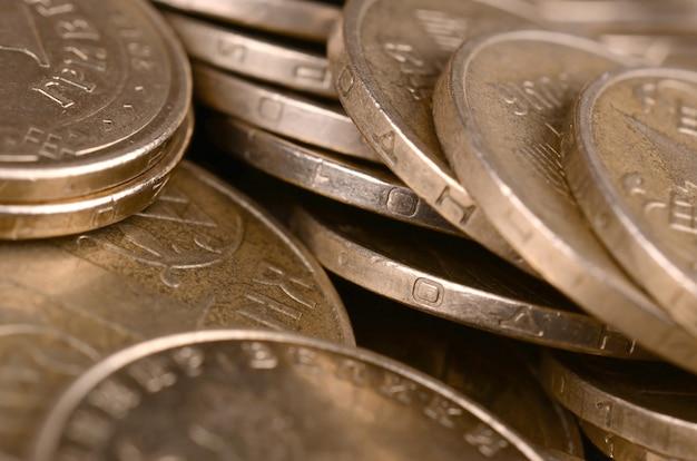 Financial success ukrainian money background for rich life concepts