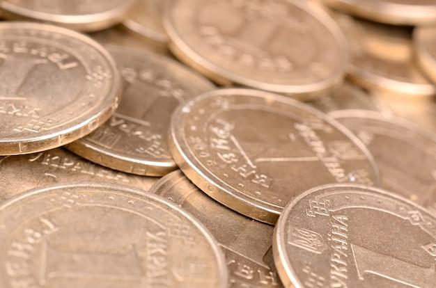 Financial success ukrainian money background