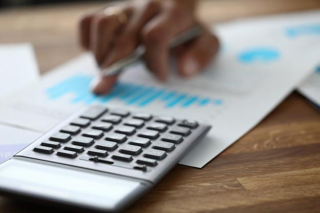 Financier using calculator