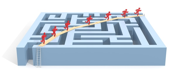 Поиск решения. компьютерная графика для бизнес-концепции