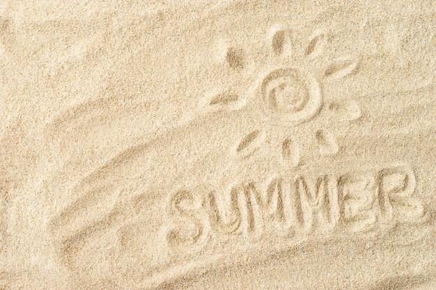 해변에서 좋은 모래.
