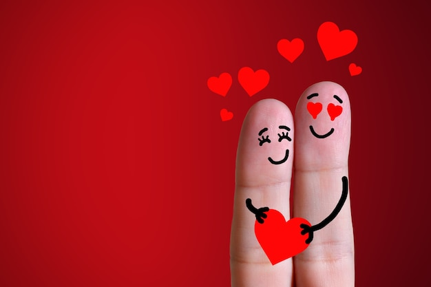 손가락, 사랑에 빠진 커플
