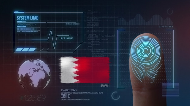Finger print biometric scanning identification system. bahrain nationality