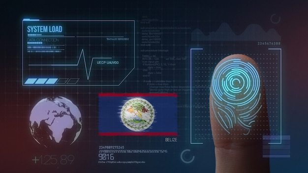Finger print biometric scanning identification system. belize nationality