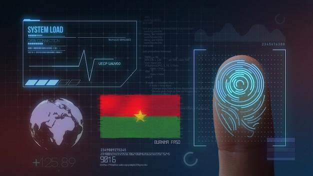 Finger print biometric scanning identification system. burkina faso nationality