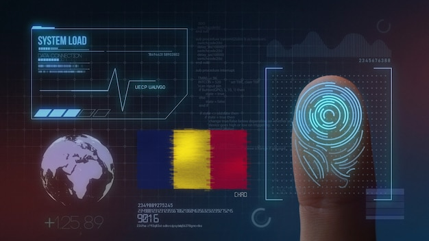 Finger print biometric scanning identification system. chad nationality