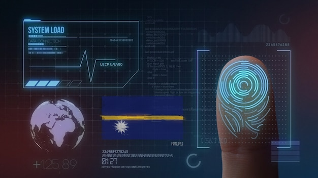 Finger print biometric scanning identification system. nauru nationality