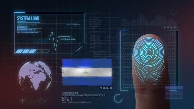 Finger print biometric scanning identification system. nicaragua nationality